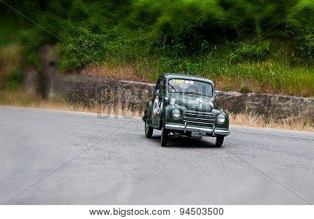 old car FIAT 500 C Topolino 1951 mille miglia 2015