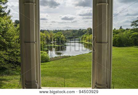 Surrey lake pillars