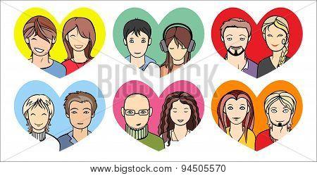 Unrecognizable People Faces