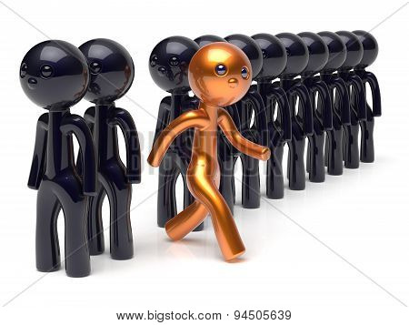 Stand Out From The Crowd Different People Individuality Concept