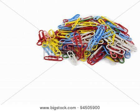 Group of multicolored clips