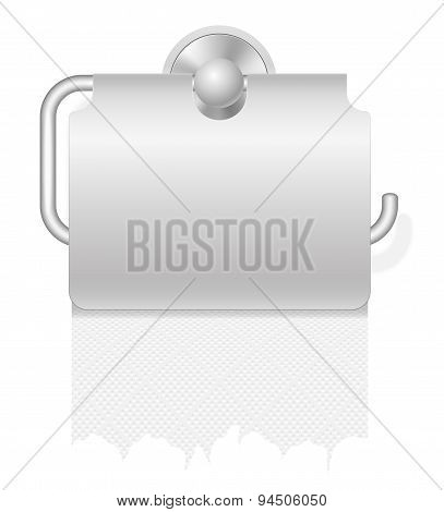 Toilet Paper On Holder Vector Illustration