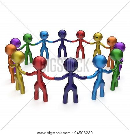 Human Resources Social Network Characters Teamwork Circle