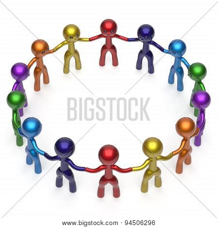 Social Network Men Together Circle Characters Friendship Icon
