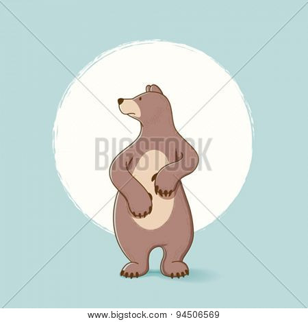Simple bear illustration