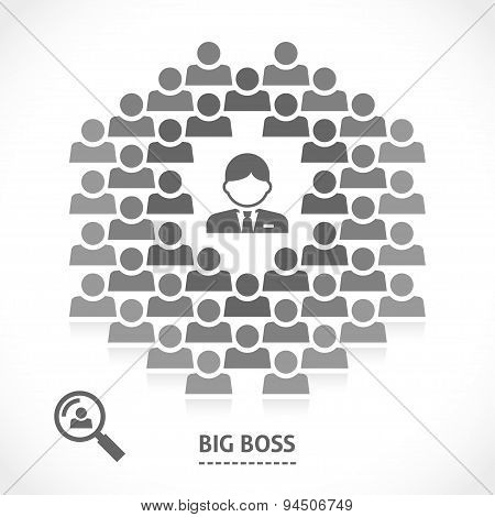 Concept of big boss team building