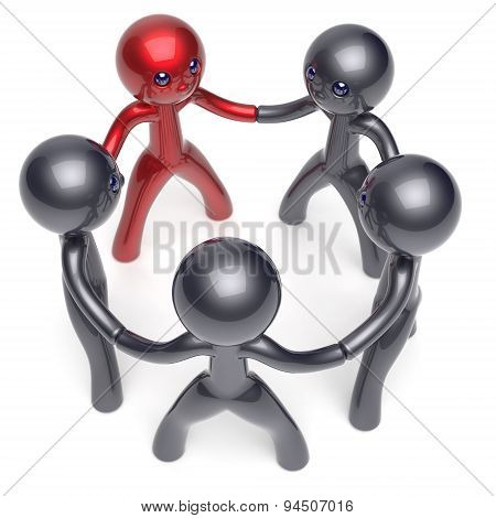 Leader Boss Teamwork Circle People Social Network Motivation