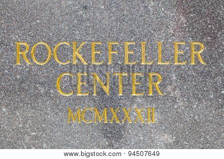 Rockefeller Center Inscription, Editorial