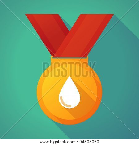 Long Shadow Gold Medal With A Blood Drop