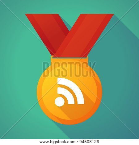 Long Shadow Gold Medal With An Rss Sign
