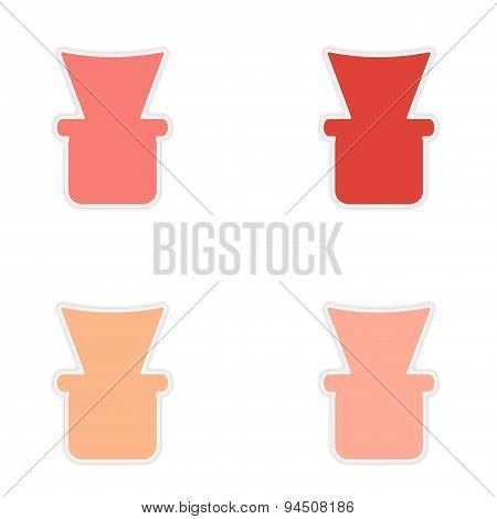 assembly realistic sticker design on paper shisha bowl
