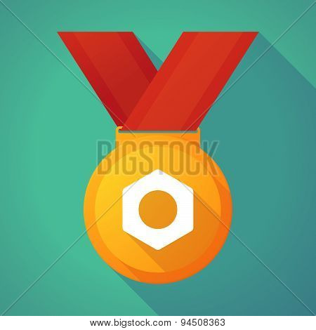 Long Shadow Gold Medal With A Nut