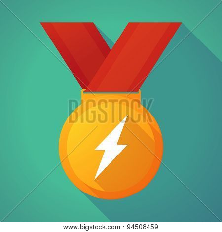 Long Shadow Gold Medal With A Lightning