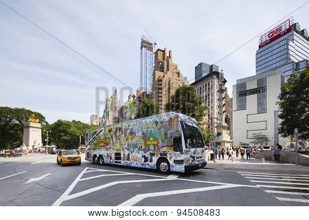 Columbus Circle In New York, Editorial