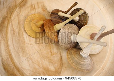 Wooden spinning-top