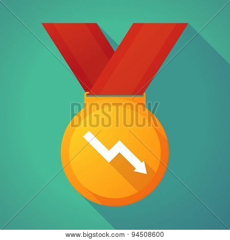 Long Shadow Gold Medal With A Graph