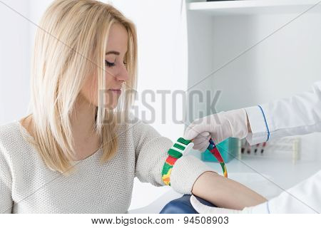 Preparation for blood test