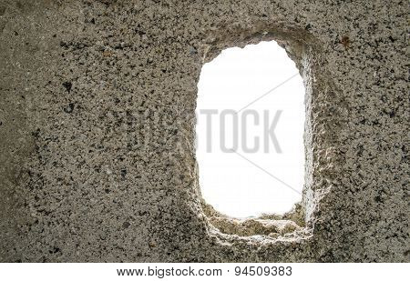 cracked concrete texture with white space background