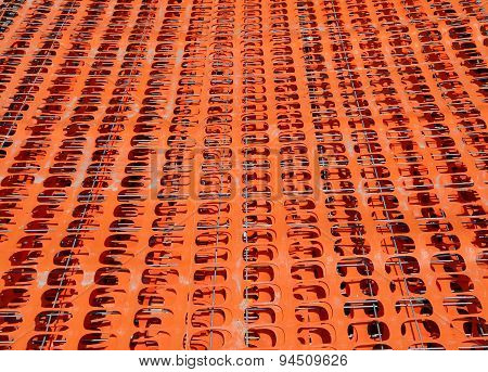 Orange Safety Fence Barrier Visual Barrier Used In Construction Sites