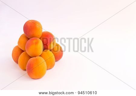 Pyramid of Bright Fresh Apricots - Landscape