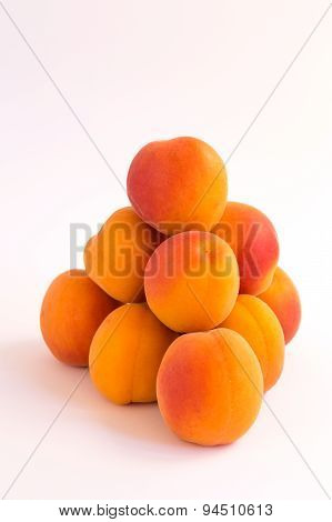 Pyramid of Ripe Fresh Apricots