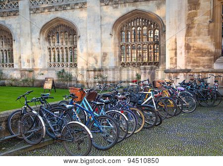 CAMBRIDGE, UK - JANUARY 18, 2015: King's college (started in 1446 by Henry VI). Historical buildings