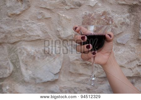 Woman Hand With Wine