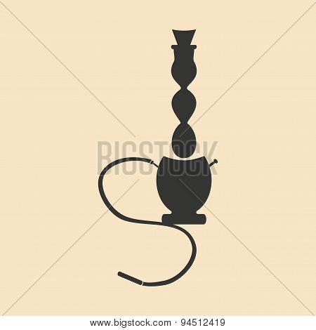 Flat in black and white mobile application hookah shisha