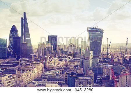 London. View on business modern district.