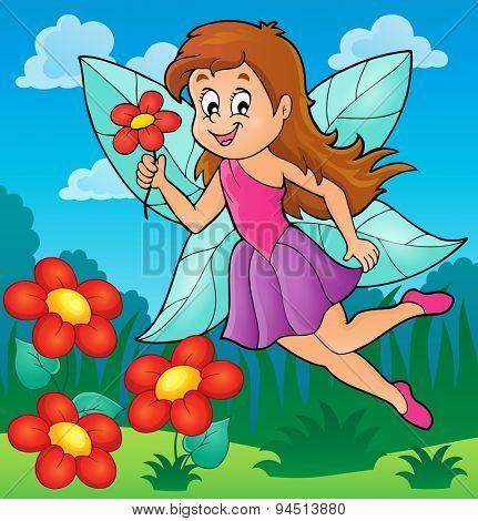 Happy fairy theme image 5 - eps10 vector illustration.