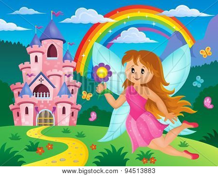 Happy fairy theme image 3 - eps10 vector illustration.