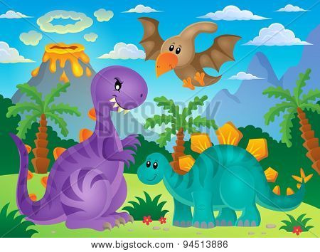 Dinosaur theme image 3 - eps10 vector illustration.