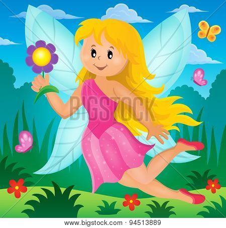 Happy fairy theme image 2 - eps10 vector illustration.