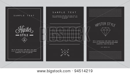 Set of cards for invitation, business card, poster or banner designs