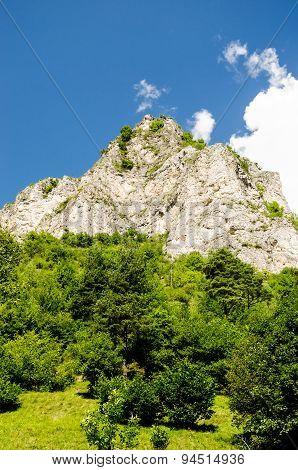 Mountain Peak On The Alps