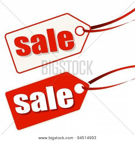Hang tag White-red Sale