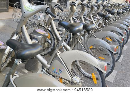 Velib Bike, a Bicycle share program in Paris