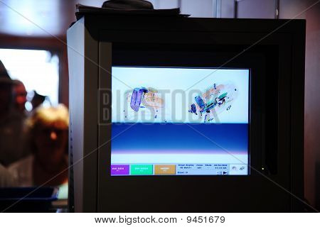 X-ray Monitor For Baggage And People In Airport