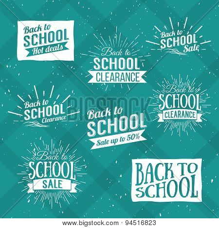 Back To School Typographic - Vintage Style Back To School Design Layout In Vector Format