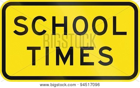 School Times In Australia