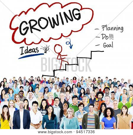 Growing Growth Mission Success Opportunity Concept
