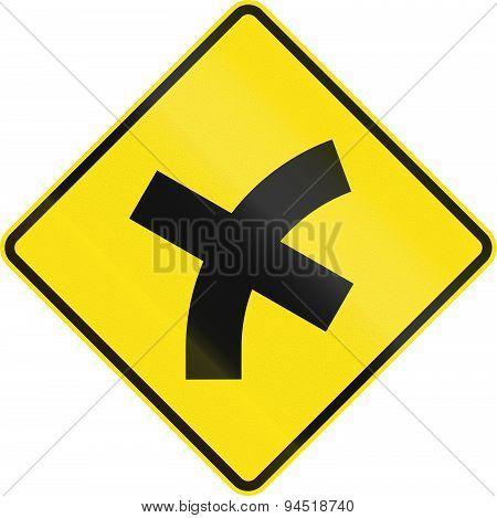 Intersection Ahead In Australia