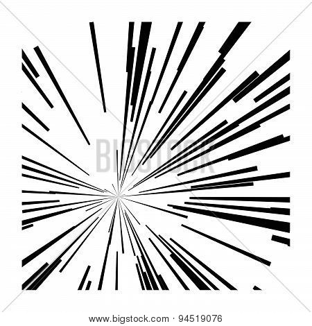 illustration vector abstract speed motion black lines star burst background