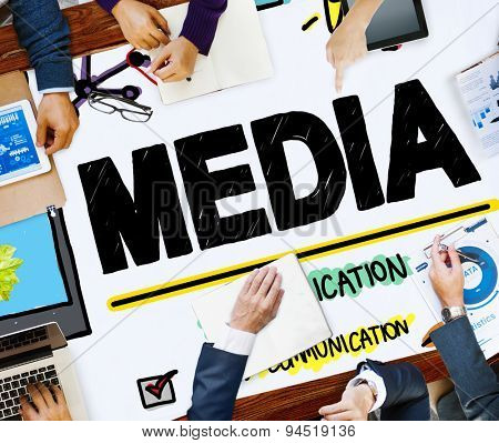 Media Devices Mess Communication Multimedia Concept