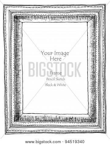 Cotton Sew Frame Pencil Sketch