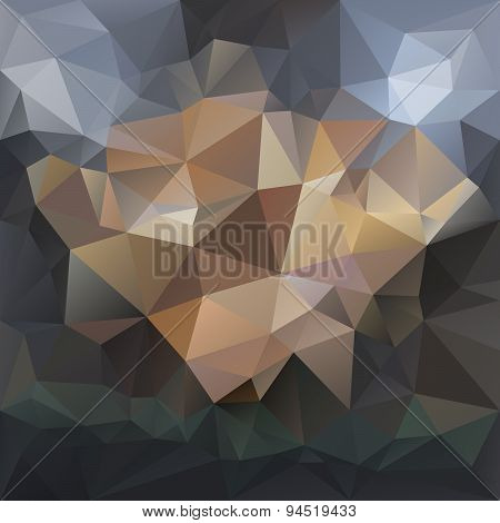 Vector Polygonal Background Triangular Design In Dark Colors