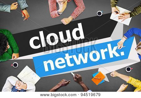 Cloud Network Computing Storage Online Concept