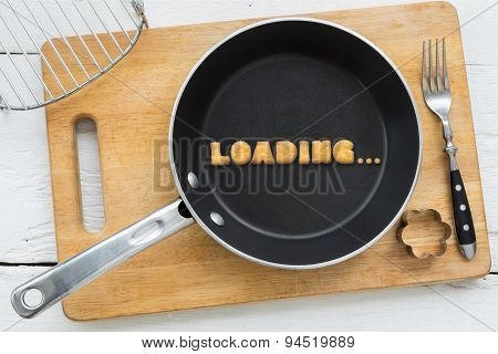 Letter Cookies Word Loading And Kitchen Utensils