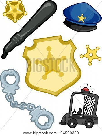 Illustration of Elements Typically Associated with the Police