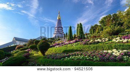 Stupa On Doi Inthanon. Chiang Mai, Thailand